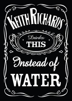 Keith Richards drinks THIS instead of Water