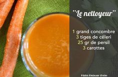 Jus detox nettoyeur carottes concombre