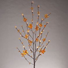 Amber Petal Flower Lighted LED Branches & Garland for Fall Decor