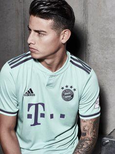 adidas Launch Bayern Munich Away Shirt - SoccerBible James Rodriguez Colombia, James Rodrigues, Messi And Ronaldo, Cristiano Ronaldo, Everton, James Rodriguez Wallpapers, Champions League, Fifa, James 10