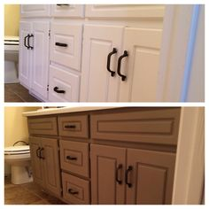 my bathroom vanity makeover using annie sloan chalk paint in coco