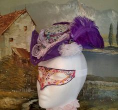 Purple Pirate hat Fascinator wedding steampunk gothic burlesque larp costume  | Clothing, Shoes & Accessories, Costumes, Reenactment, Theater, Accessories | eBay!