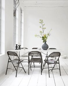 White, Home, Interior, Industrial, Minimal Inspiration, White Floorboards, Dining, Oracle Fox