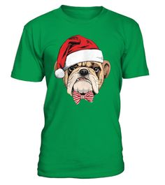 """# Bulldog in santa hat christmas .  Secured payment via Visa / Mastercard / Amex / PayPalBuy 2 or more and SAVE on shipping!How to place an order Choose the model from the drop-down menu Click on """"Reserve it now"""" Choose the size and the quantity Add your delivery address and bank details And that's it!"""
