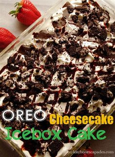 Oreo Cheesecake Icebox Cake - My Kitchen Escapades - a super yummy and easy dessert recipe idea for summer time