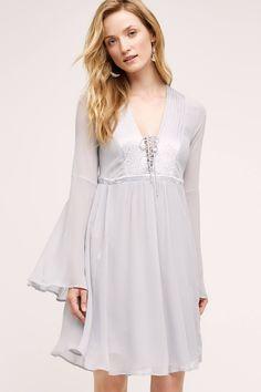 Belled Peasant Dress