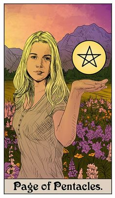 Supernatural Suit of Pentacles Supernatural Fans, Supernatural Drawings, Supernatural Fan Art, Supernatural Wallpaper, Page Of Pentacles, Tarot Readers, Favim, Tarot Cards, Images