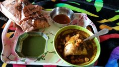 #samosa with #channe and #chutney  #yummy #delicious #indianfood #India