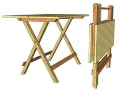104 Folding TV Table: For People on the Go - Woodworking Plans Wood Folding Table, Folding Furniture, Pallet Furniture, Folding Stool, Furniture Design, Woodworking Software, Woodworking Bench Plans, Woodworking Apron, Woodworking Patterns