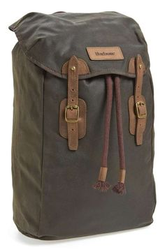 Barbour | Waxed Canvas Backpack #barbour #backpack