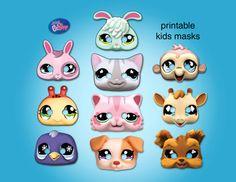 Littlest Pet Shop - Party Masks, Printable via Etsy