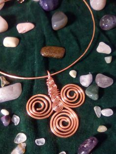 TRISKELL Necklace COPPER by LughAislingCelticArt on Etsy