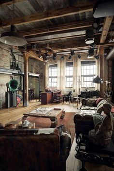 Get This Look: An Industrial Loft Inspired by Automobiles