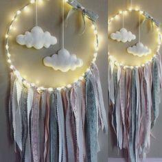 Douceur et originalité pour ce modéle lumineux   . attrape reve qui viendra mettre une touche de douceur dans votre interieur . ideal dans la chambre de nos petits bouts ,pour  - 19136845