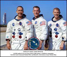 The Crew of Apollo 9 who would test the Lunar Module in Earth orbit. Jim Mc Divitt , Dave Scott and Rusty Schweickart. Apollo Space Program, Nasa Space Program, Tony Goldwyn, Neil Armstrong, Nasa Photos, Apollo Missions, Kennedy Space Center, Nasa Astronauts, Space Race