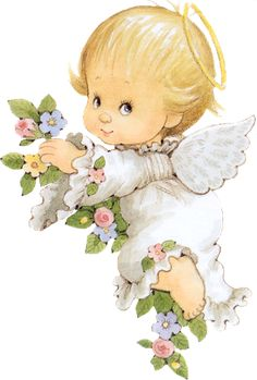 Angel Images, Angel Pictures, Cute Pictures, Christmas Angels, Christmas Art, Clipart Baby, Baby Clip Art, Christmas Drawing, Holly Hobbie