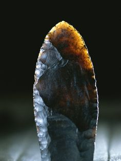 Ancient stone spearhead
