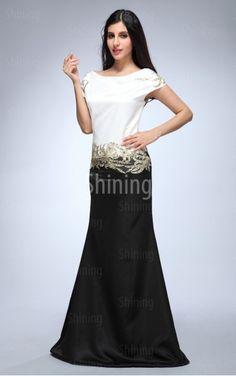 Multi Colours Mermaid Floor-length Scoop Dress