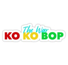 High quality Exo Kokobop gifts and merchandise. Inspired designs on t-shirts, posters, stickers, home decor, and more by independent artists and designers from around the world. Kpop Stickers, Tumblr Stickers, Printable Stickers, Cute Stickers, Baby Stickers, Journaling, Kpop Logos, Exo Kokobop, Exo Songs