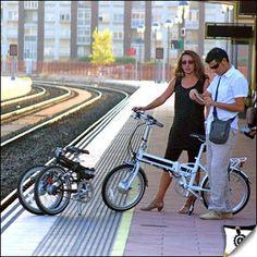 Bicis plegables permitidas en trenes de alta velocidad. España