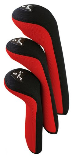 Check out our Red/Black Stealth Club Headcover Set! Find the best golf gear and accessories at Lori's Golf Shoppe. Click through now to see this!