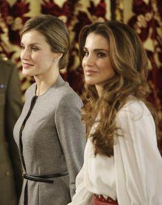 Los Reyes comparten con Abdalá y Rania de Jordania un almuerzo de trabajo en el Palacio Real - Foto 13