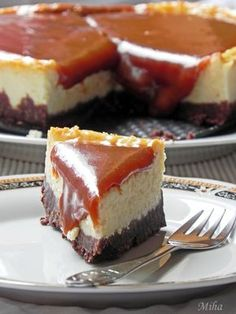 Prajitura cu branza si caramel – Caramel Cheesecake   Dulciuri fel de fel