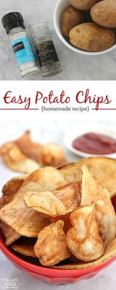 Easy Potato Chips Recipe! Homemade Chips for Summer Recipes and Barbecues!