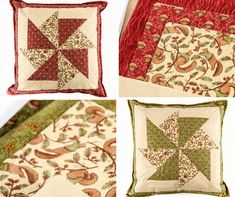 For just why not make this beautiful cushion cover with any fabric from your stash! Which colour do you prefer? Stash Fabrics, Unique Bags, Cushion Pads, Pinwheels, Acorn, Squirrel, Pattern Design, Sewing Patterns, Cushions