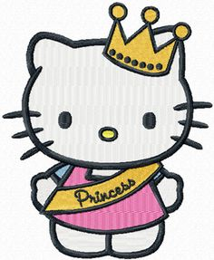 hello kitty embroidery designs | Hello Kitty Little Princess machine embroidery design