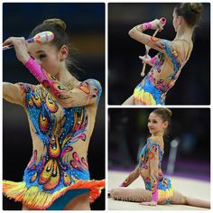 Leotard: Arina Altushkina (Russia), junior, clubs 2015