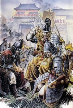 Chinese troops defending Kaifeng during the Mongol siege