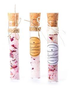 Hervorragend Glasröhrchen Gastgeschenke   ROSEN BADESALZ Im Reagenzglas / Glas