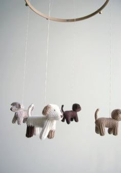Baby crib mobile  dogs mobile  FLYING PUPPIES baby by Patricija, $119.00 #puppyideas