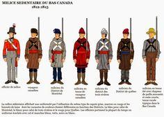 War of 1812 Wargaming Blog: Canadian Militia Uniforms Milice sédentaire du bas-Canada