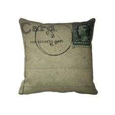 Cool Postcard pillows with Vintage postcard graphics. I love these