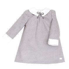 vestido eve cuadros gales grises Eve Children, Shirt Cuff, Dresses Kids Girl, Kids And Parenting, Kids Girls, Kids Fashion, Fall Winter, Bell Sleeve Top, Long Sleeve