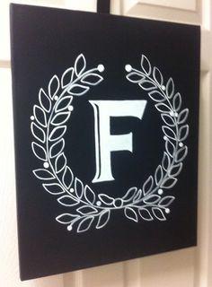 Custom handmade Chalkboard Style initial by EaselyDesigned on Etsy