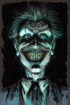 The Joker by Tony Moore Comic Art Comic Book Characters, Comic Character, Comic Books Art, Comic Art, Der Joker, Joker Art, Joker Comic, Joker Pics, Im Batman