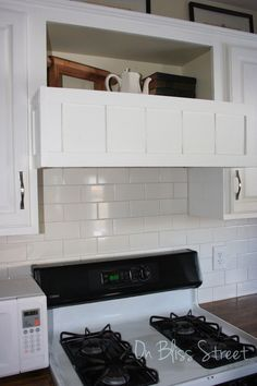 Hometalk | DIY Built-in Range Hood Cover. Cover Your Existing Hood for $20!!
