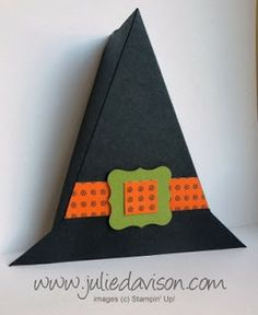 Julie's Stamping Spot -- Stampin' Up! Project Ideas Posted Daily: VIDEO: Halloween Witch Hat Treat Box Tutorial