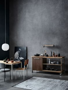 61 creative ideas of decoration to put into practice already - Home Fashion Trend Grey Interior Design, Japanese Interior Design, Interior Walls, Contemporary Interior, Concrete Interiors, Dark Interiors, House Interiors, Concrete Wall Panels, Concrete Walls