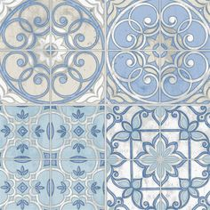 This wallpaper is inspired by vintage spanish tiles.   AmericanBlinds.com
