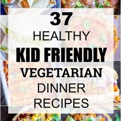37 Healthy Kid Friendly Vegetarian Dinner Recipes - She Likes Food Quick Vegetarian Dinner, Vegetarian Meals For Kids, Quick Healthy Breakfast, Healthy Snacks For Kids, Breakfast For Kids, Healthy Foods To Eat, Healthy Baking, Easy Healthy Recipes, Breakfast Muffins