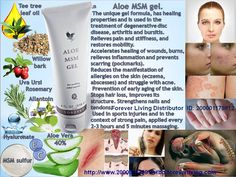 Aloe MSM Gel combines these two powerful ingredients with herbal extracts and other select ingredients for soothing relief anytime.  When you're looking for soothing relief, reach for Aloe MSM Gel. MSM stands for Methyl Sulfonyl Methane, an organic sulfur found in almost all living organisms. In fact, sulfur is the third most abundant substance in our body.