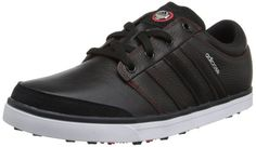 Soft premium leather uppers on these mens Adicross gripmore golf shoes by Adidas provides comfort, protection and performance