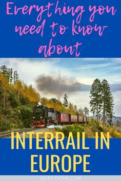 Everything you need to know about going on an interrail in Europe. A complete guide to travel Europe by train. All the interrail tips you need from what to pack, how to budget and how to pick and use your innterrail pass. Top Europe Destinations, Amazing Destinations, Travel Guides, Travel Tips, Europe Train Travel, Europe Continent, Europe On A Budget, Backpacking Europe, What To Pack