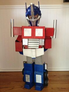 directions on how to make an Optimus Prime costume from cardboard