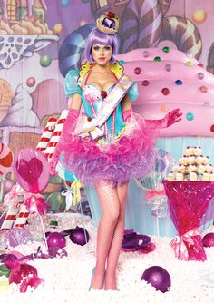 Hairstyles For Party Picture result for candy girls Candy Land Costumes, Food Costumes, Adult Costumes, Costumes For Women, Costume Ideas, Clown Costumes, Costumes Kids, Candy Girls, Costume Cupcake
