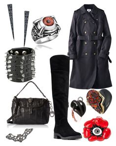"""""""plus size scary halloween"""" by aleger-1 on Polyvore featuring Uniqlo, MICHAEL Michael Kors, Alexis Bittar, Mattioli and Lana"""